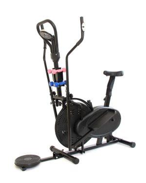 Bicicleta elíptica 4 en 1: Twister + pesas